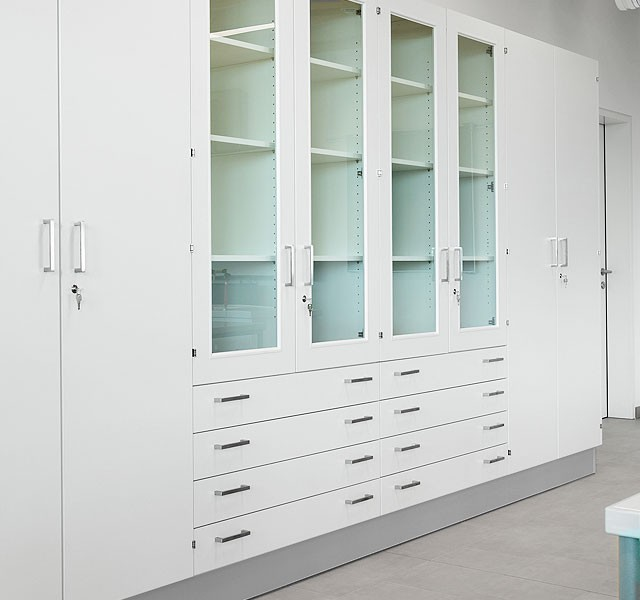High Cupboard with drawers ARMADIO-BASE