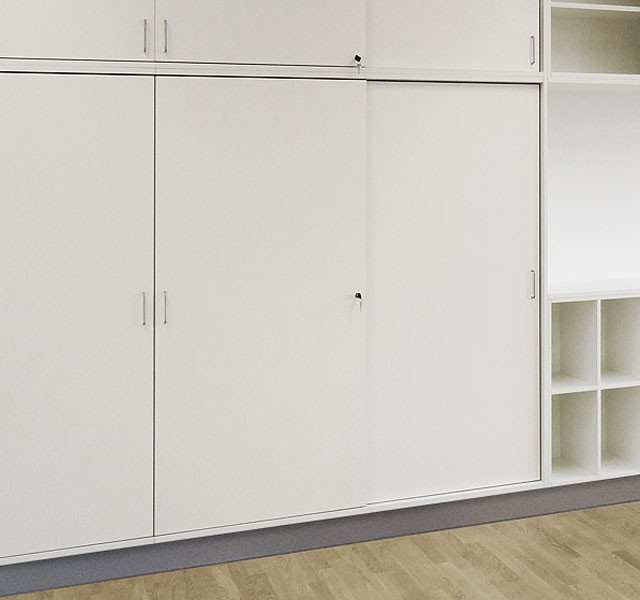 High cupboards with sliding doors ARMADIO-BASE