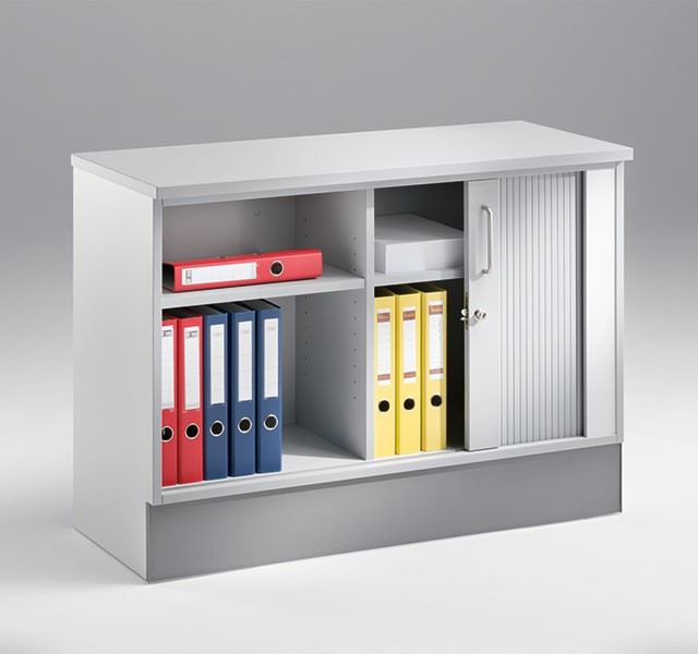 Low cupboards with horizontal roller shutter ARMADIO-BASE