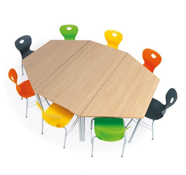 Round leg desks