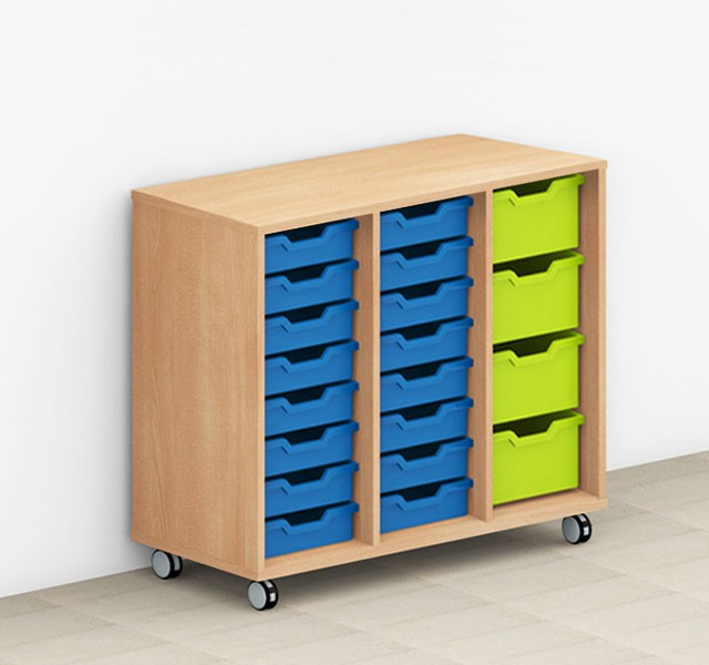 Students compartment cupboards for storage boxes mobile ARMADIO-CLASS
