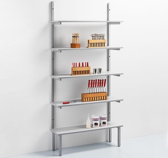 Standing-shelf elements